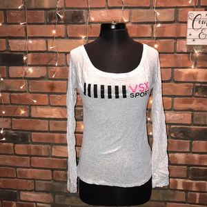 Victoria Secret Sparkly Long Sleeved Tee Cute Soft